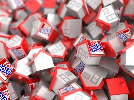 home buyer: Real Estate and property background, original 3d rendering