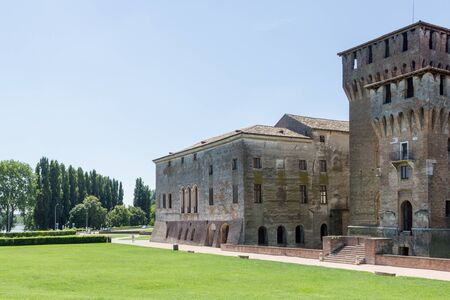 Sunny day in the famous town of Mantua, in the north of Italy