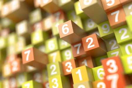 numerical code: Original three dimensional background, technology concepts