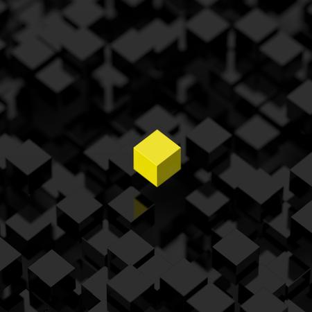 render: Leadership concept, original 3d render background