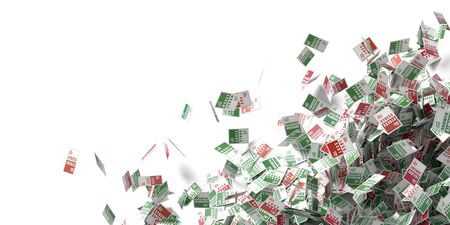 business opportunity: Business risk, success, chance and opportunity concept, 3d rendering background Stock Photo