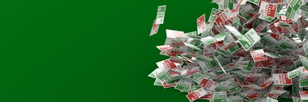 Business risk, success, chance and opportunity concept, 3d rendering background Stock Photo