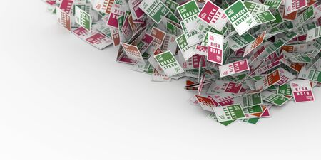 opportunity concept: Business risk, success, chance and opportunity concept, 3d rendering background Stock Photo