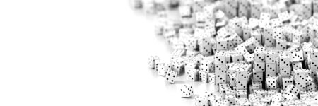 small group of objects: Infinite dices background, 3d rendering