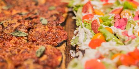 Fresh topped Italian pizza