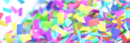 Infinite mail envelopes, 3d rendering background