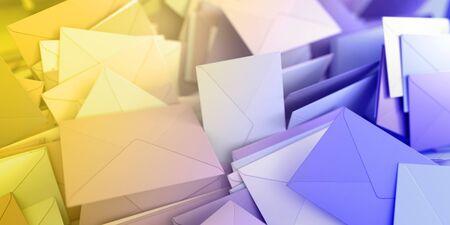 envelope: Infinite mail envelopes, 3d rendering background