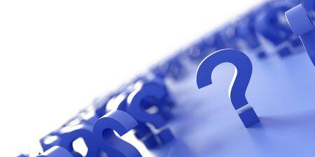 無限の質問のアイコン、オリジナルの 3 d レンダリング;ビジネスおよびマーケティングの概念 写真素材