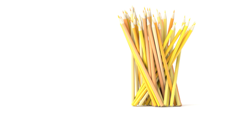 business graphics: Infinite pencils background, education and creativity theme, original 3d rendering