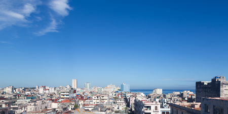 Havana, Cuba; aerial panoramic view of the old city Stock Photo