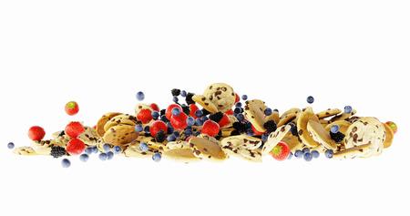 Infinite cookies with fruit and muesli, original 3d rendering Stock Photo