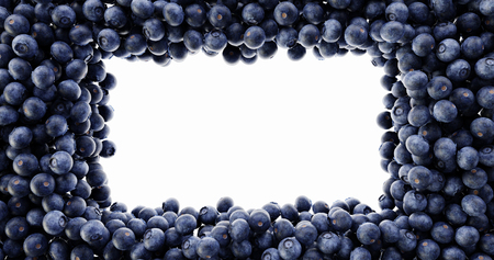 Blueberry background, ultra realistic 3d rendering