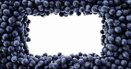Blueberry background, ultra realistic 3d rendering Standard-Bild - 120082655