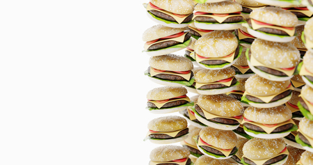 Infinite hamburger background, original 3d rendering Standard-Bild - 120082928