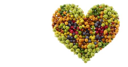 Apple heart; healthy and good food concept, original 3d rendering