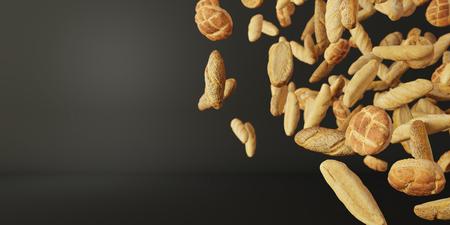 infinite bread, ultra realistic 3d rendering