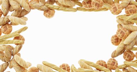 infinite bread frame, ultra realistic 3d rendering Stock Photo