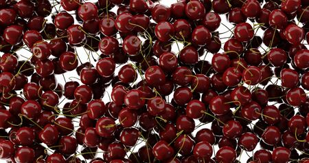 Cherry background, ultra realistic 3d rendering