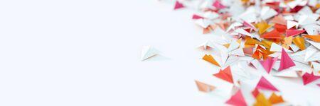 Infinite paper planes, 3d rendering illustration