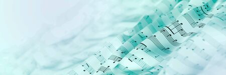 Abstract musical notes background; art concepts, original 3d rendering, RF illustration