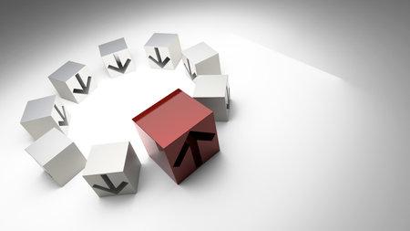 Business conceptual cubes, success and leadership theme, original 3d rendering 版權商用圖片