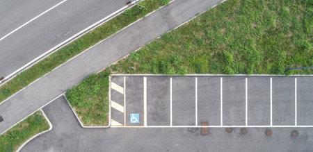 Parking lot, aerial drone photography 版權商用圖片