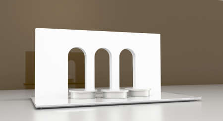 Mockup of an architectural show display; original design and 3d rendering