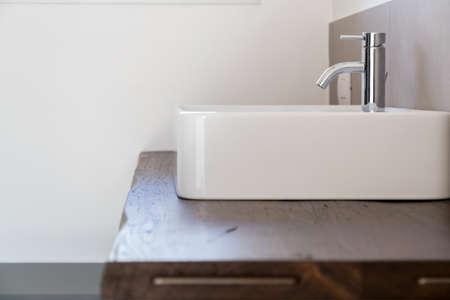 Elegant and modern style bathroom furniture 版權商用圖片