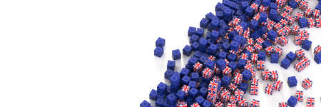 Europe and United Kingdom political and economic relationship, 3d rendering background, Brexit concepts 版權商用圖片 - 165426242