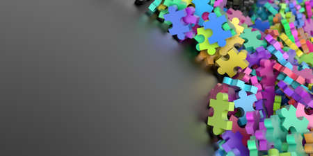 Jigsaw background, teamwork and strategy concepts, original 3d rendering