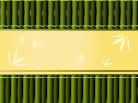 Dark bamboo background with decorative place for text Vector