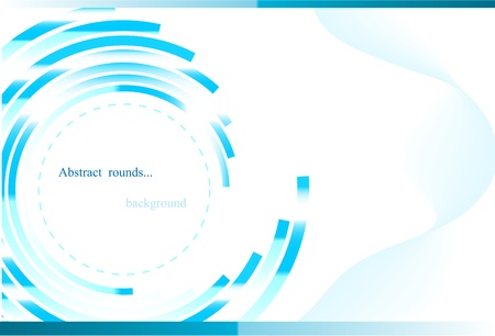 Abstract blue background with round elemnts
