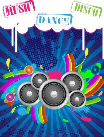 disk jockey: Abstract Music Backgrounds for discoteque or party flyer with design elemnts