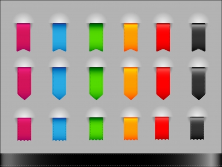Collection of colorfull different shapes ribbons  Vector