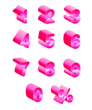 Set of pink candy perent isolated on whte Vector
