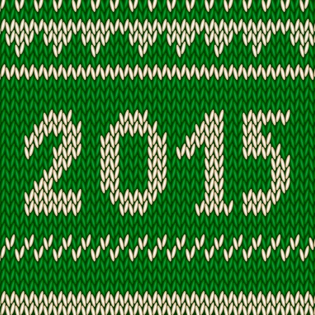 Knitting christmas pattern with a showflakes and 2015 nordic style