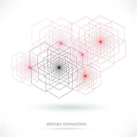 Abstract Network color technology or medical communication background