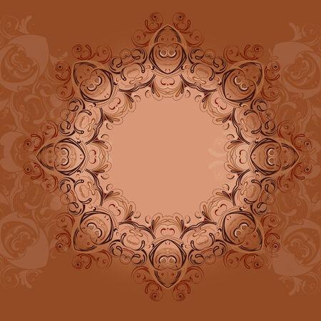 ethnical: Indian ethnical  oriental   round henna lace ornament mandala style