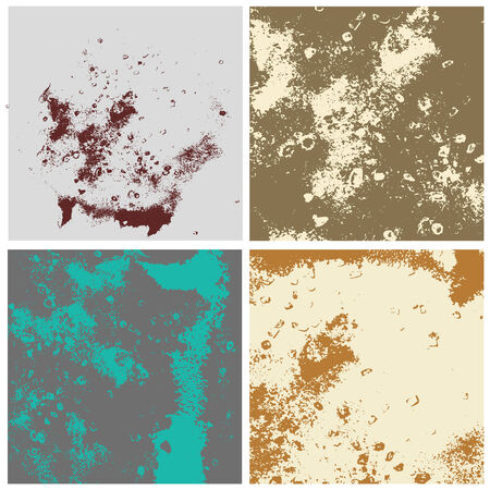 grunge textures: grunge textures set. background different style colors Illustration