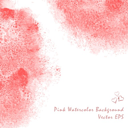 Water Color Background Pink. Abstract art hand paint Vector