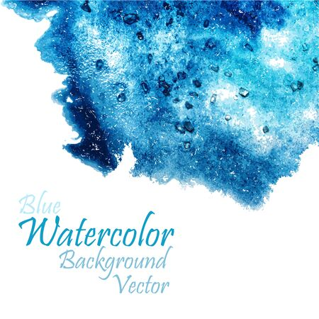 Watercolor hand drawn blue bright beauty background Illustration