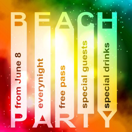 night club: summer party design poster or flyer Night club event typography