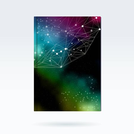 Vector brochure mod�le galaxie et connexions conception