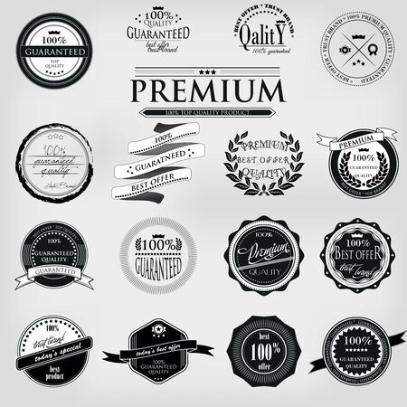 high quality: Retro Vintage 100 guaranteed Premium Quality Labels set