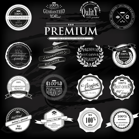 Retro Vintage 100 garantis labels de qualit� Premium Set