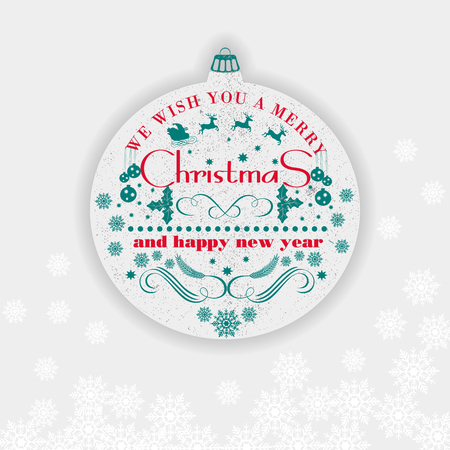 Christmas and Happy New Year  greeting card,  background, poster