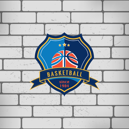 championship: sport basketball team logo college crest Illustration