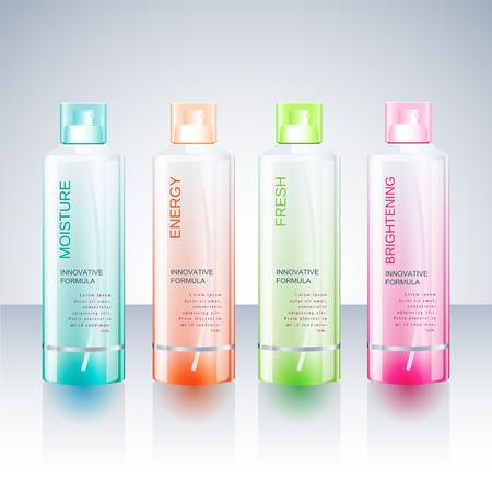 Packaging design Template for body care bottle