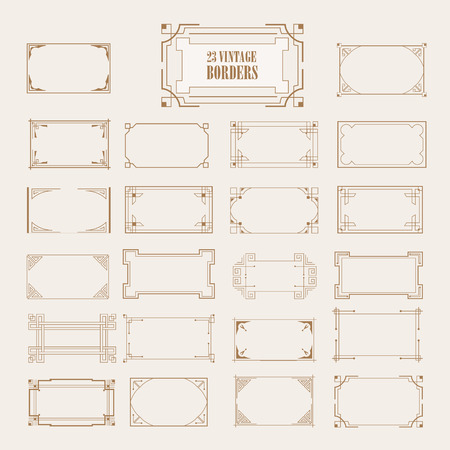 Vintage retro frame set calligraphic design elements