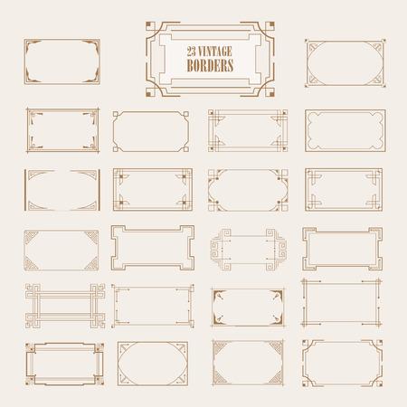 calligraphic design: Vintage retro frame set calligraphic design elements